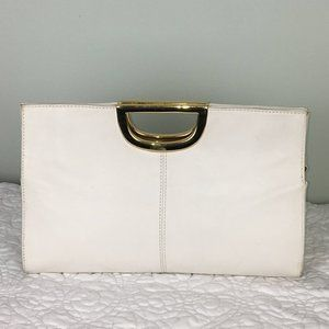 Giani Bernini Vintage White Top Handle Clutch